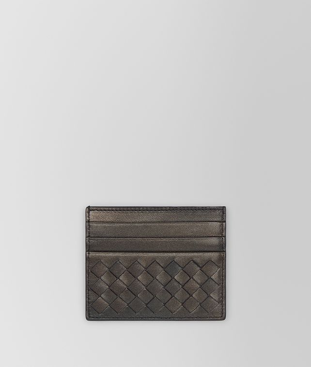 BOTTEGA VENETA DARK BRONZE INTRECCIATO NAPPA CARD CASE Mini Wallet E fp