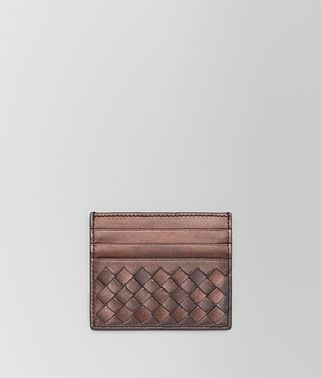 DARK COPPER INTRECCIATO NAPPA CARD CASE