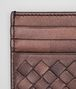 BOTTEGA VENETA DARK COPPER INTRECCIATO NAPPA CARD CASE Mini Wallet or Coin Purse E dp