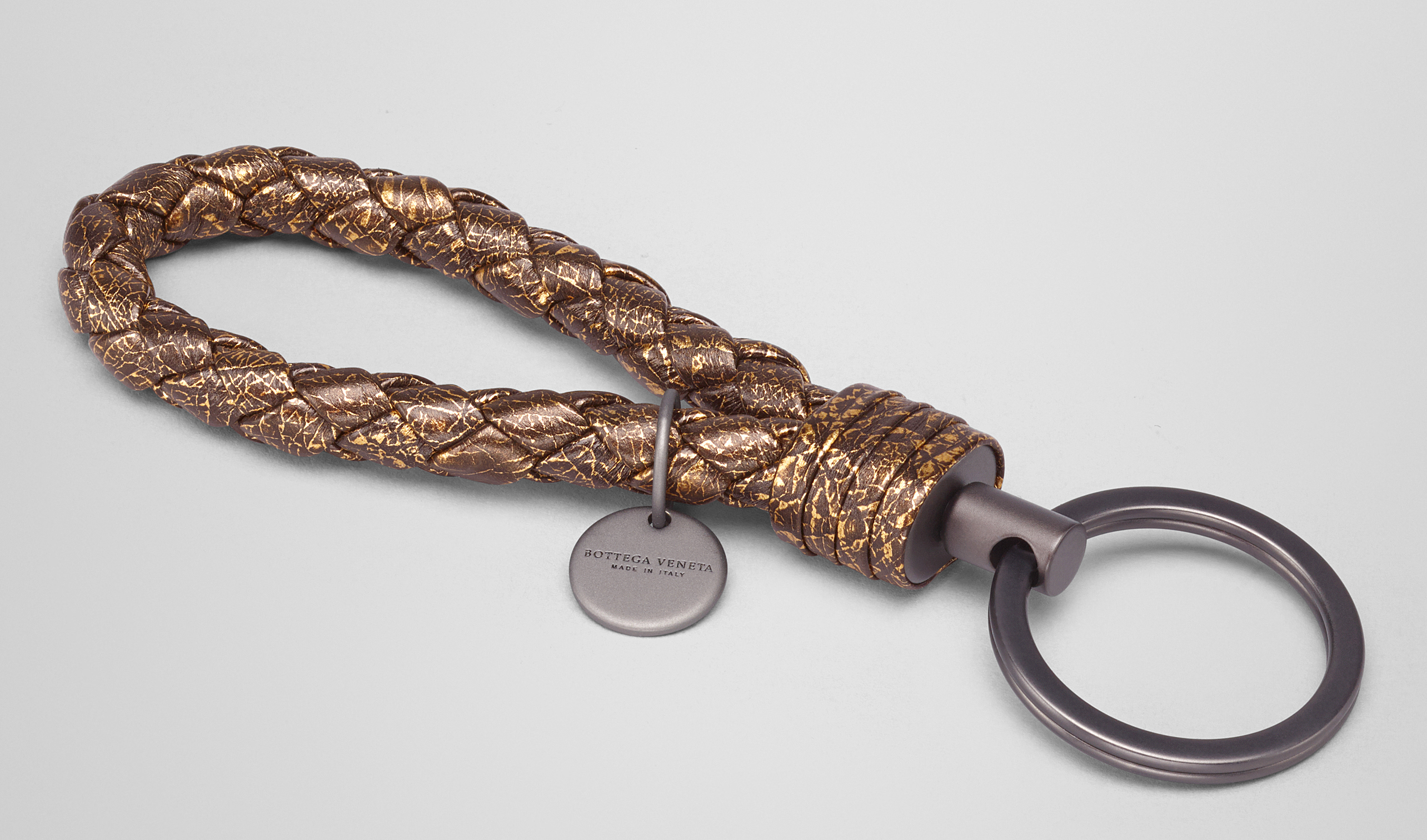 Bottega Veneta Oro Scuro Calf Key Ring Oro scuro 5xihBBT