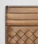 BOTTEGA VENETA ORO SCURO INTRECCIATO NAPPA CARD CASE Mini Wallet or Coin Purse E dp