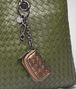 BOTTEGA VENETA ORO SCURO INTRECCIATO NAPPA KEY RING Keyring or Bracelets E ap