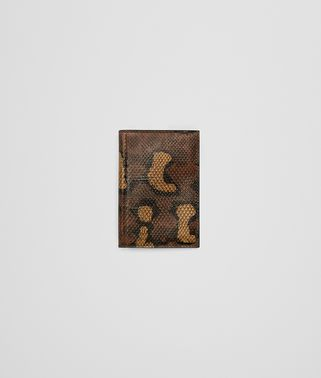DARK CALVADOS HAND-PAINTED KARUNG CARD CASE