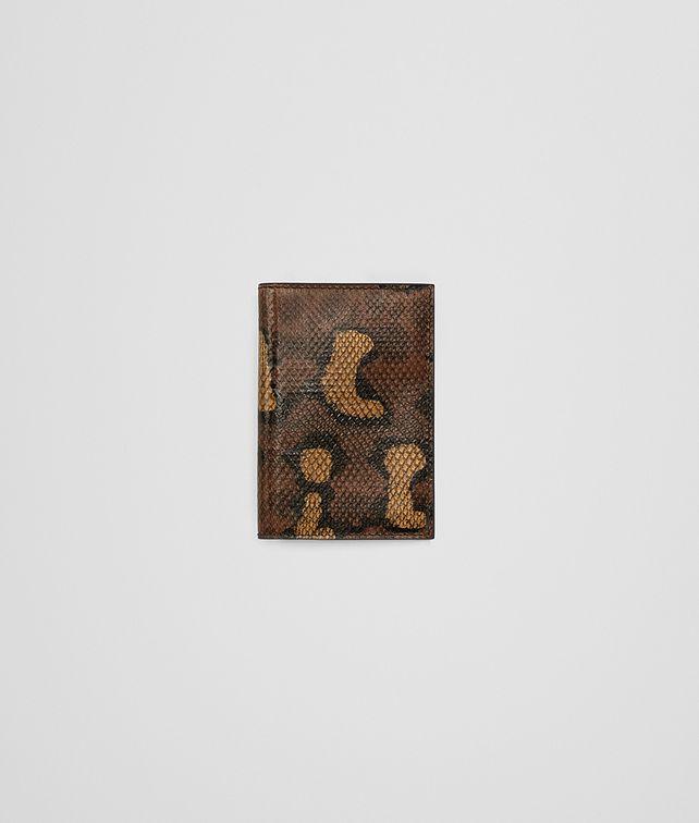 BOTTEGA VENETA DARK CALVADOS HAND-PAINTED KARUNG CARD CASE Card Case or Coin Purse Man fp