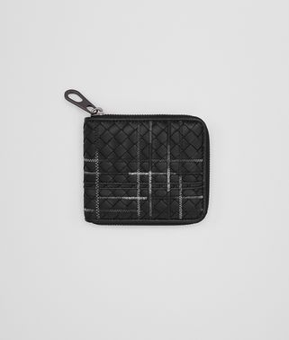 NERO INTRECCIATO NAPPA ZIP-AROUND WALLET