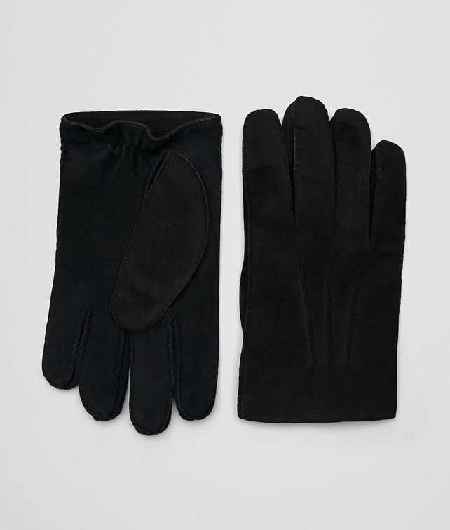BOTTEGA VENETA NERO SUEDE GLOVE Scarf or other Man fp