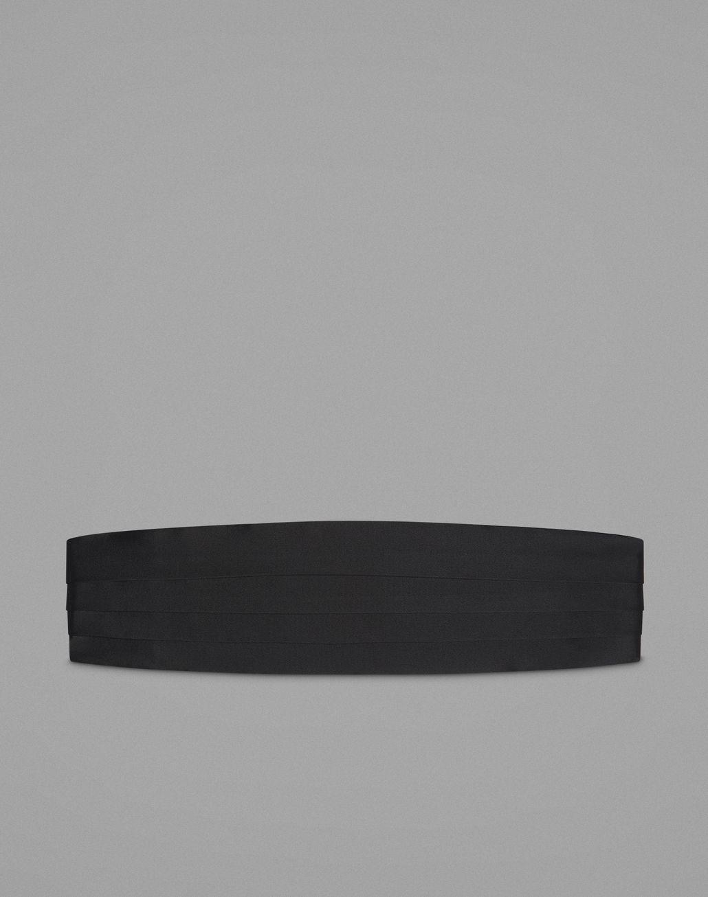 bf92b5848a42 BRIONI Ceinture de smoking noire en soie à quatre plis Autres accessoires