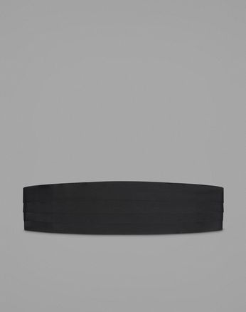 Black Silk Four Pleat Cummerbund