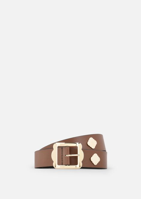 SMOOTH COWHIDE LEATHER BELT