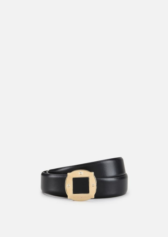 SMOOTH COWHIDE LEATHER BELT  dbf5154ab2c9e