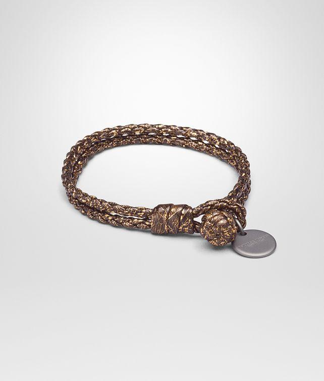 BOTTEGA VENETA ORO SCURO NAPPA BRACELET Keyring or Bracelets E fp
