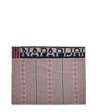 NAPAPIJRI JACQUARD BLANKET  PLAID,ROUGE