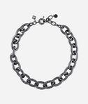 KARL LAGERFELD Gunmetal Link Necklace  8_f