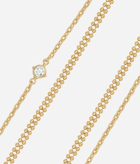 KARL LAGERFELD GOLD LAYERED CHAIN NECKLACE