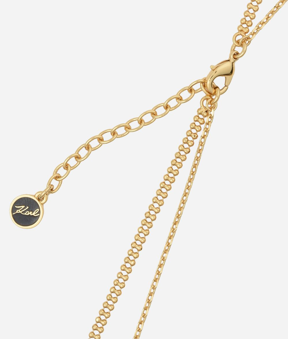 KARL LAGERFELD Gold Layered Chain Necklace Necklace Woman d