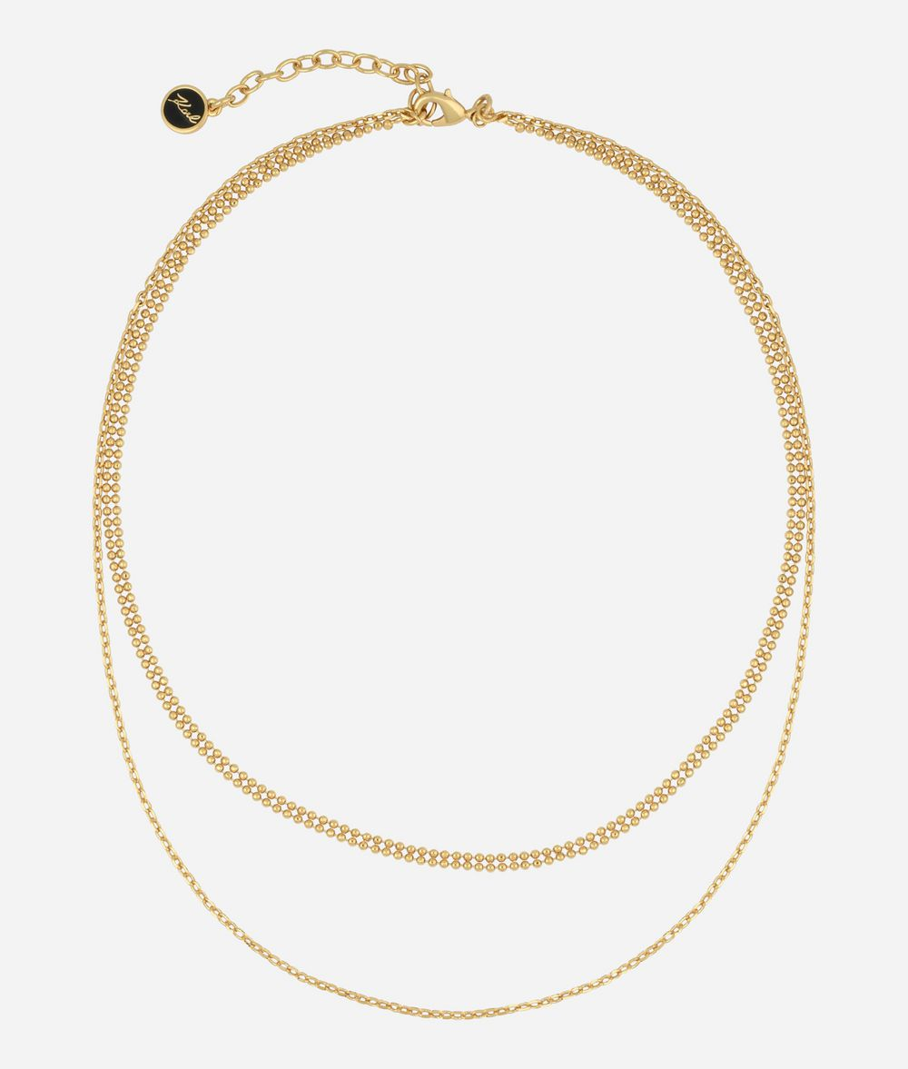 KARL LAGERFELD Gold Layered Chain Necklace Necklace Woman f