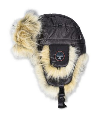 NAPAPIJRI FUY ECO FUR WOMAN HAT,STEEL GREY