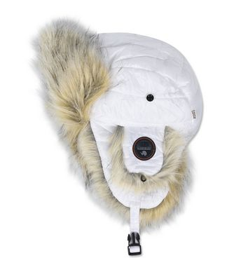 NAPAPIJRI FUY ECO FUR WOMAN HAT,WHITE