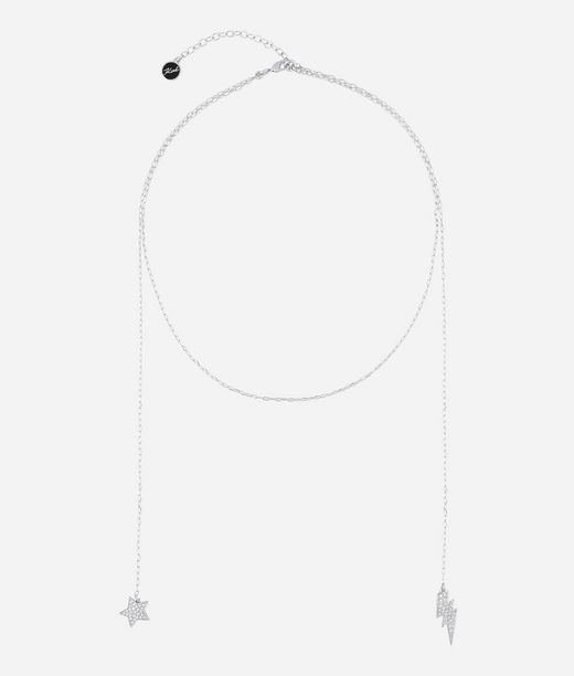 KARL LAGERFELD Silver Hanging Star and Lightning 12_f