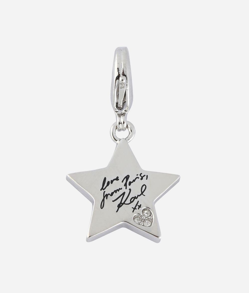 KARL LAGERFELD Silver Karl Star Charm Charm Woman f
