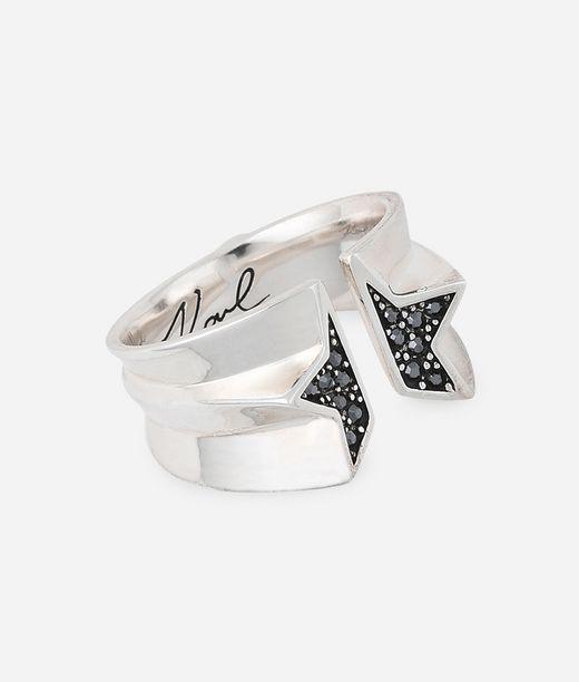 KARL LAGERFELD Sliced Star Ring 12_f