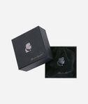 KARL LAGERFELD Gunmetal Hoop Earrings 8_e