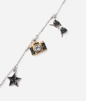 KARL LAGERFELD COLLANA A STRATI LOVE FROM PARIS