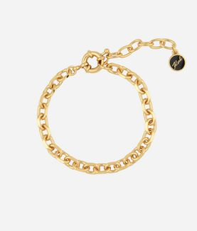 KARL LAGERFELD GOLD FACETED CHAIN