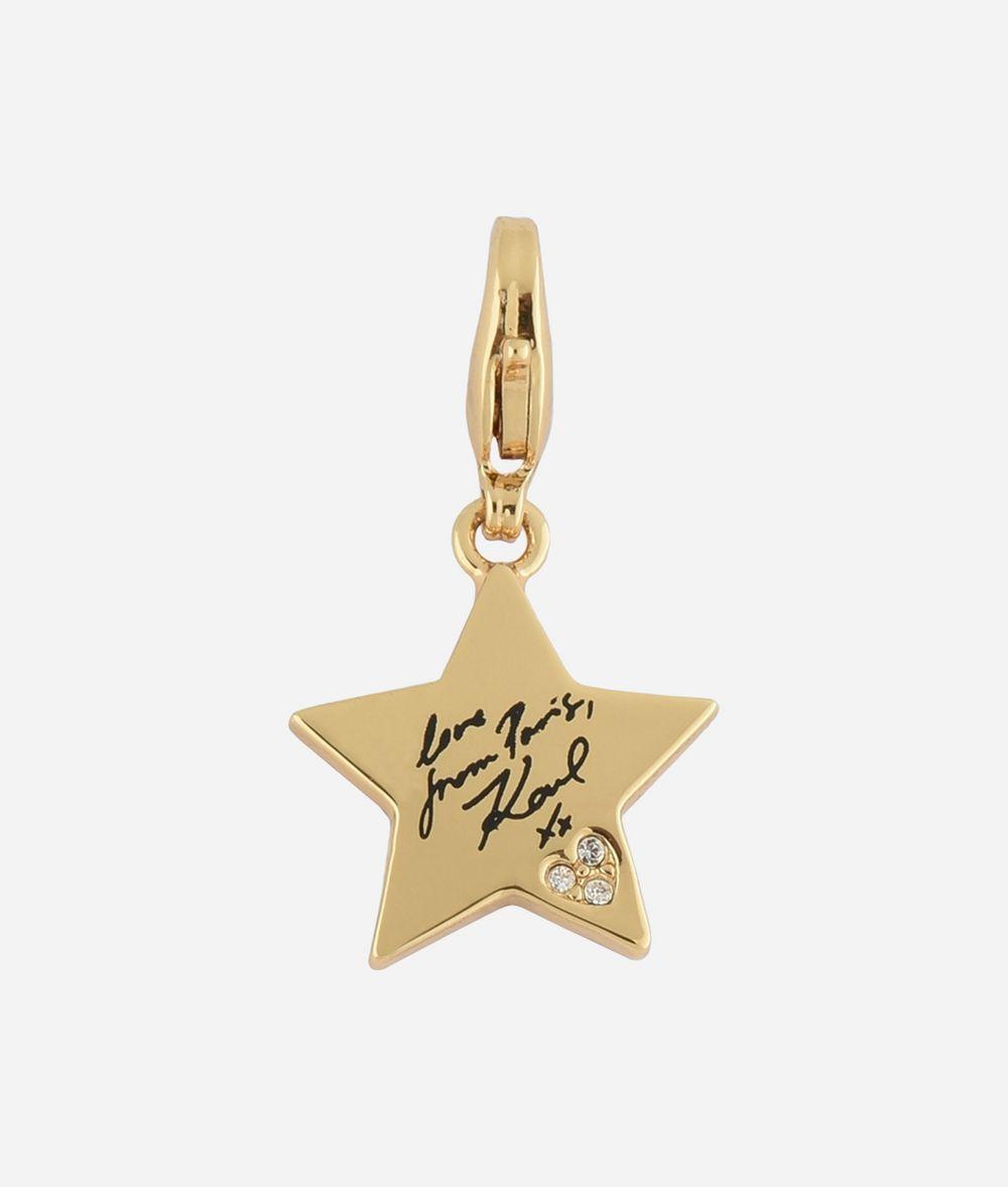 KARL LAGERFELD Breloque Karl Star dorée Charm Femme f
