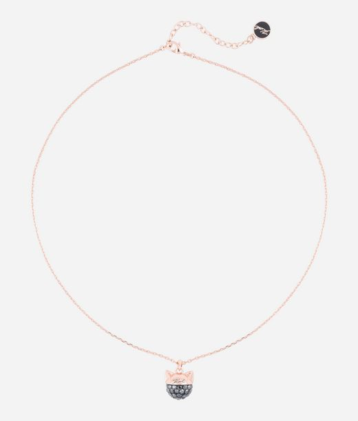 KARL LAGERFELD Rose Gold Choupette Pendant Necklace 12_f