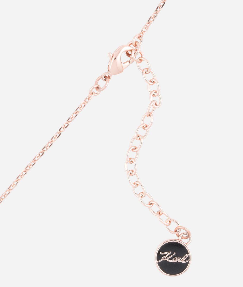 KARL LAGERFELD Collier avec pendentif Choupette or rose Collier Femme d