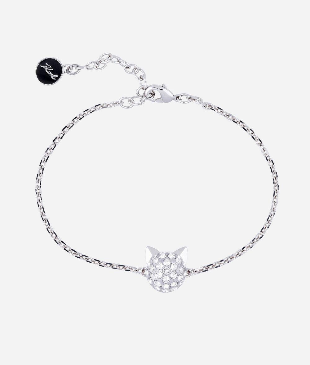 KARL LAGERFELD Bracelet avec pendentif Choupette argenté Bracelet Femme f