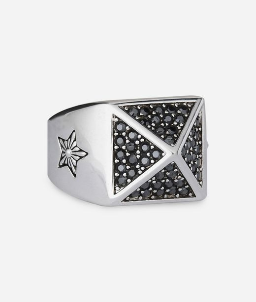 KARL LAGERFELD Pave Pyramid Ring 12_f