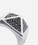 KARL LAGERFELD Pave Pyramid Ring 8_d