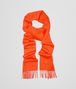 BOTTEGA VENETA ORANGE CASHMERE SCARF Scarf or other D fp