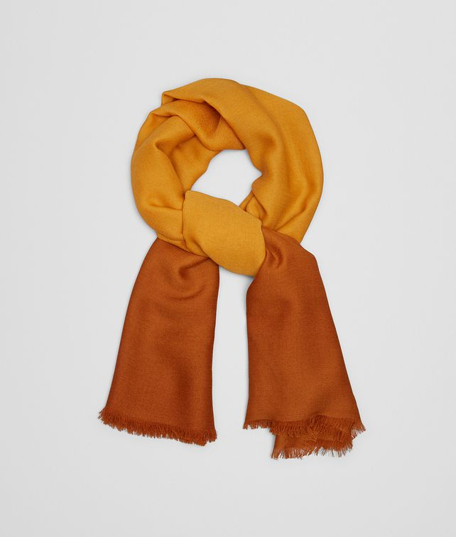 BOTTEGA VENETA OCRE WOOL SCARF Scarf or other D fp