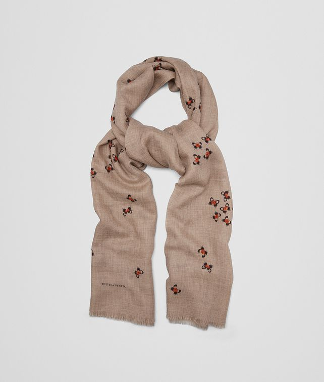 BOTTEGA VENETA BEIGE CASHMERE SCARF Scarf or other Woman fp
