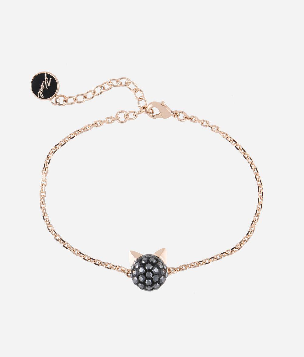 KARL LAGERFELD Bracelet avec pendentif Choupette or rose Bracelet Femme f