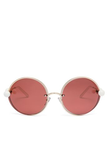 Marni MARNI STARLIGHT sunglasses in metal Woman