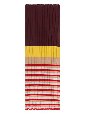 Marni Scarf in striped wool Woman