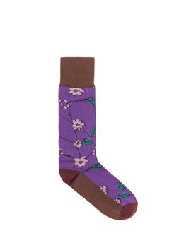 Marni Cotton and nylon sock purple Woman