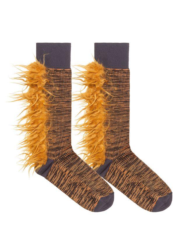 Marni Cotton and nylon sock orange Woman - 2
