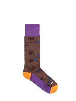 Marni Cotton and nylon sock brown Woman