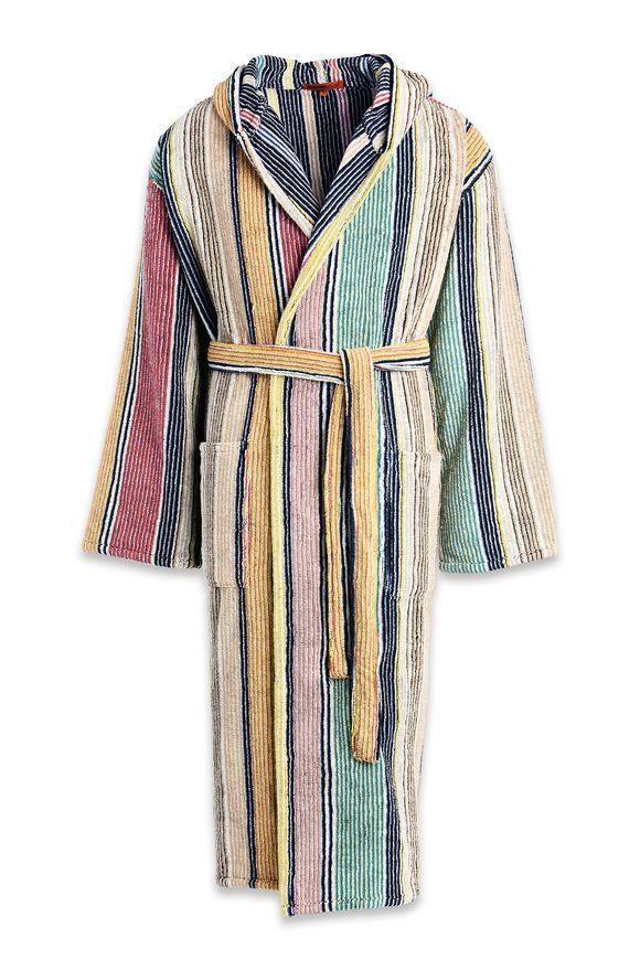 MISSONI HOME Towelling robe E TOMMASO HOODED BATHROBE m