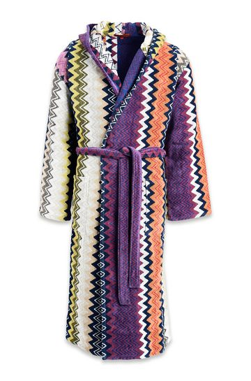 MISSONI HOME Towelling robe E TAYLOR HOODED BATHROBE m