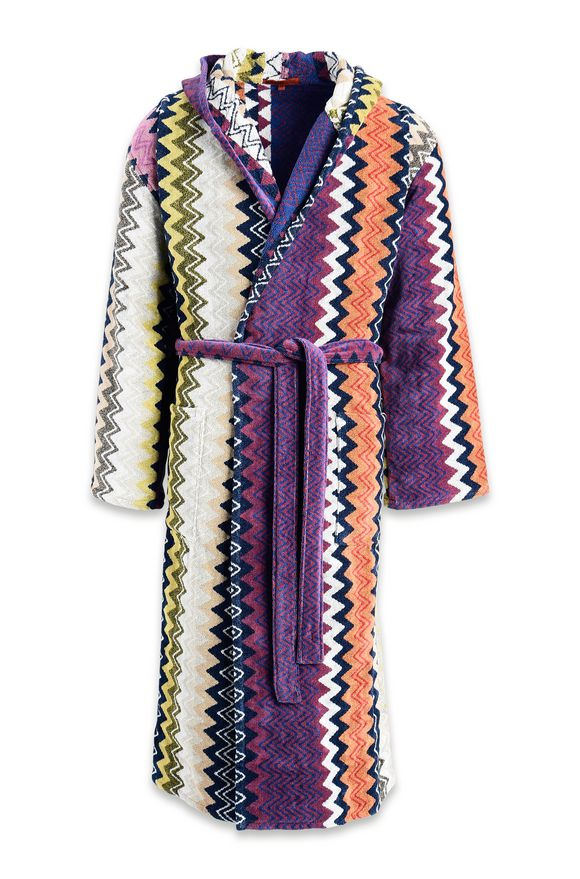 MISSONI HOME TAYLOR HOODED BATHROBE E 8ffc5c50b