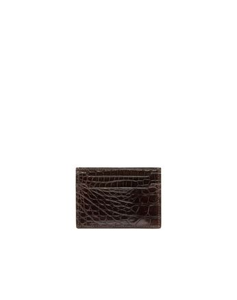 Mahogany Alligator Credit Card Holder