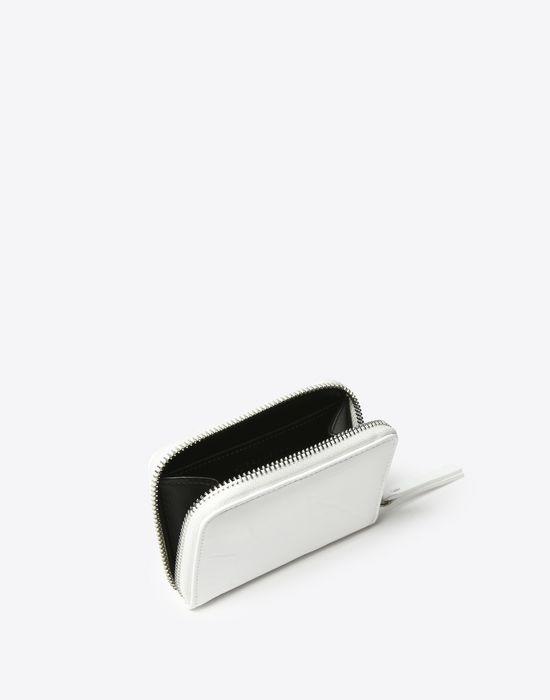 MAISON MARGIELA Kleine Brieftasche, Lackleder mit Knittereffekt Portemonnaie D d