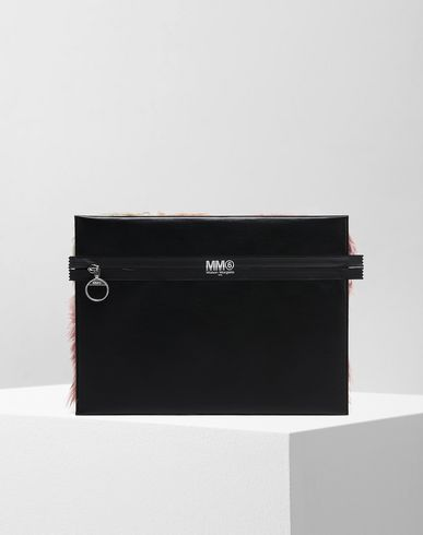 MM6 by MAISON MARGIELA Porte-documents D Pochette en fausse fourrure f