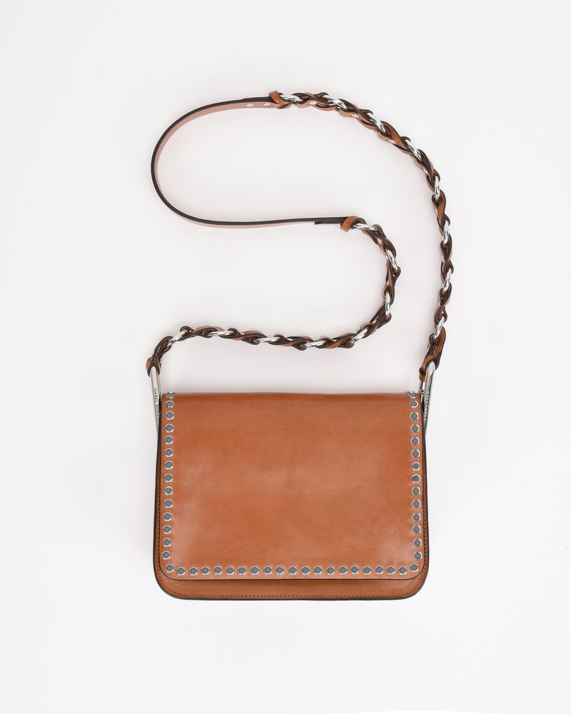 CALIBAR leather and chain crossbody bag ISABEL MARANT